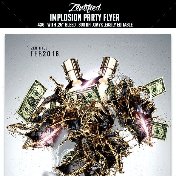 Implosion Party Flyer