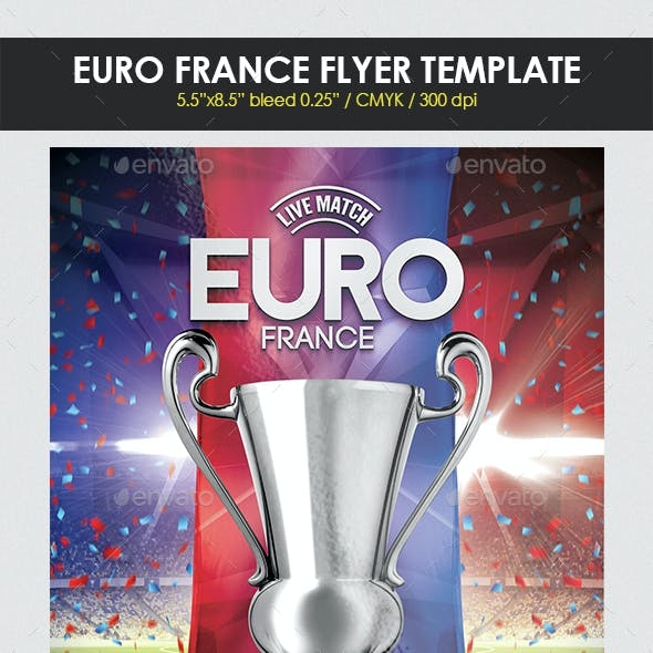 Euro France Flyer Template