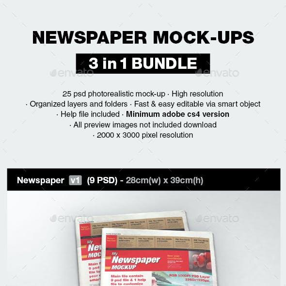 Newspaper Mock-up Bundle