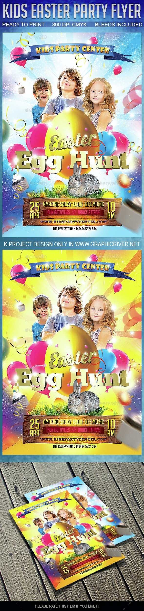Kids Easter Party Flyer - Events Flyers