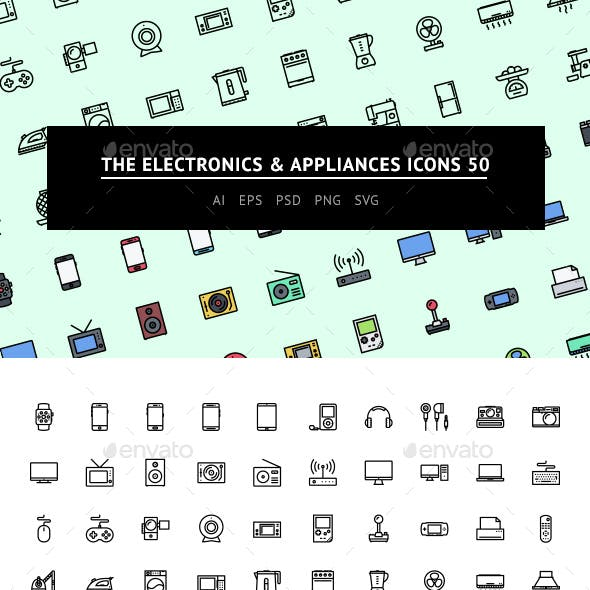 The Electronics & Appliances Icons 50