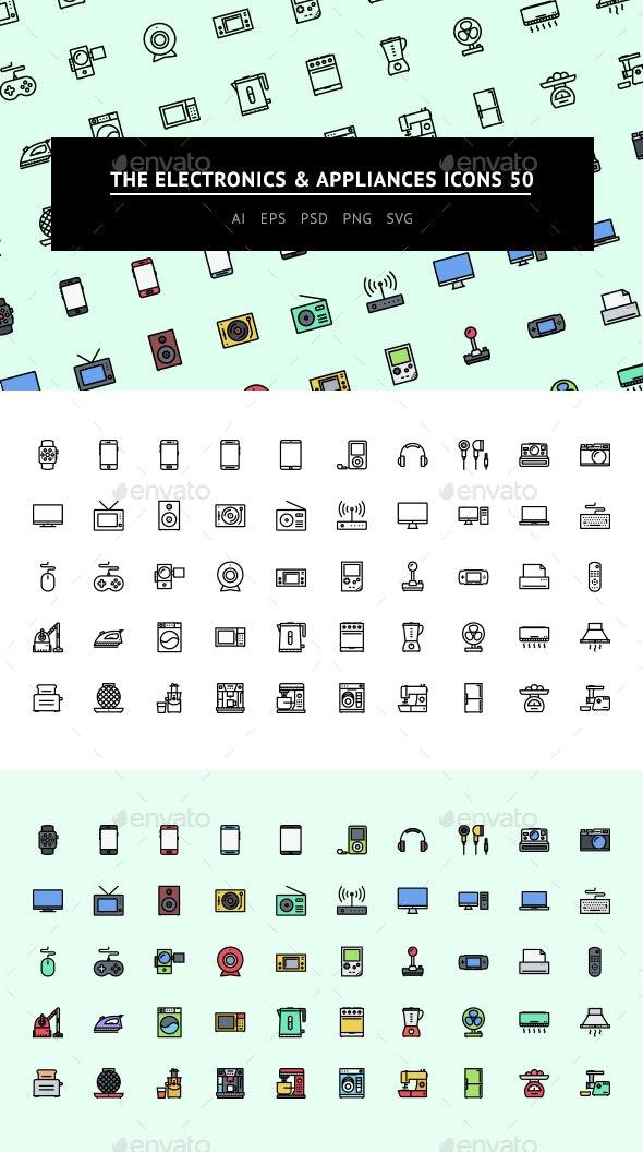 The Electronics & Appliances Icons 50 - Web Icons
