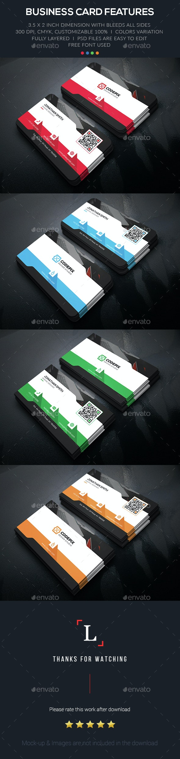 Shadow Corporate Business Card - Business Cards Print Templates