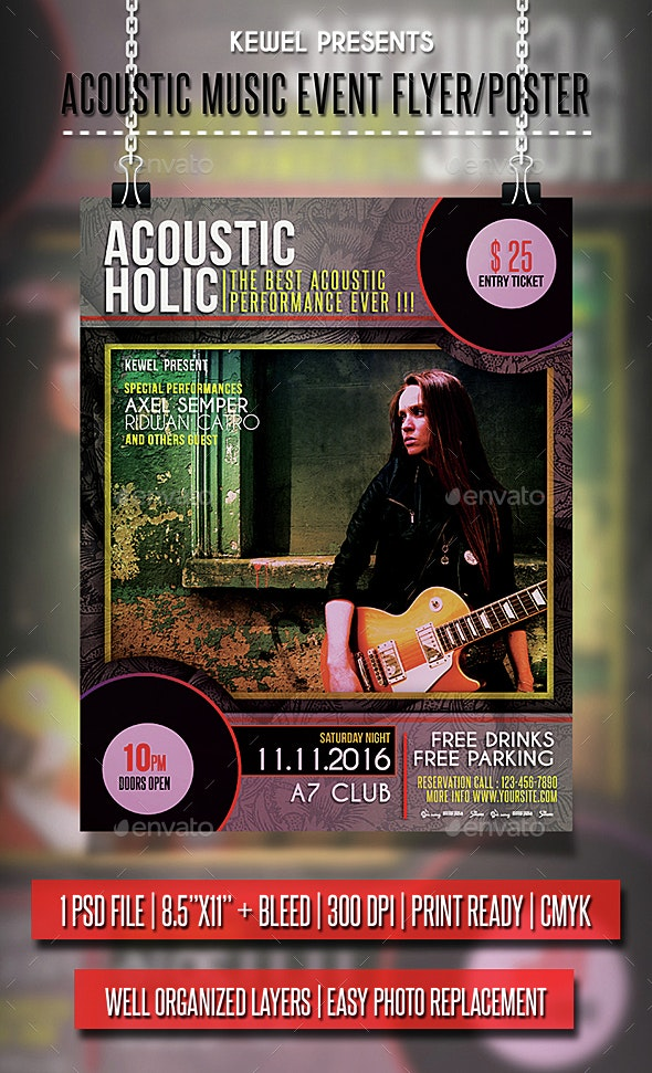 Music Acoustic Flyer / Poster - Events Flyers