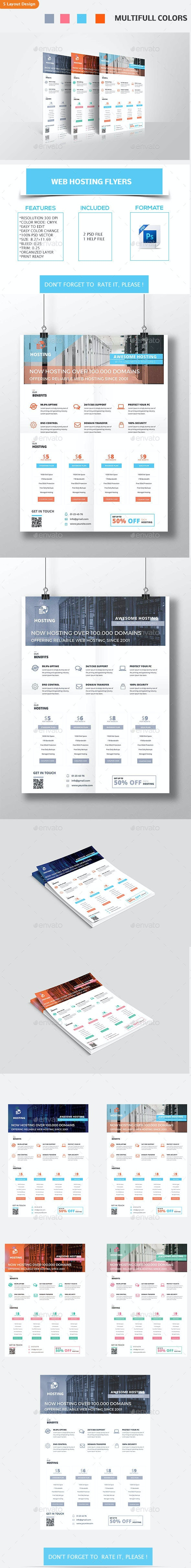 Web Hosting Flyers - Corporate Flyers