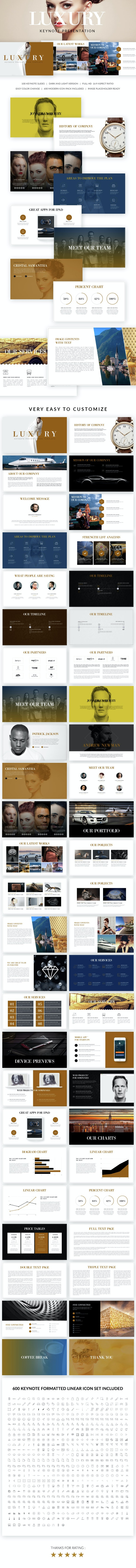 Luxury Keynote Presentation Template - Keynote Templates Presentation Templates