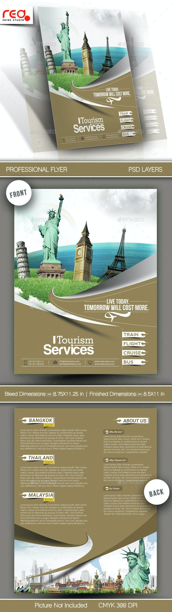 Travel - Vacation Flyer & Poster Template - Corporate Flyers