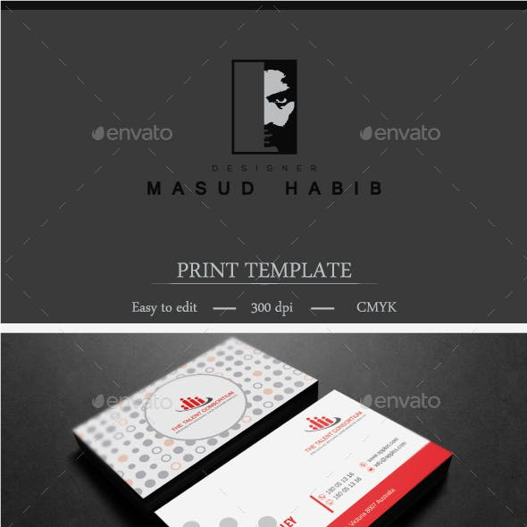 Red Corporate Business Card 01