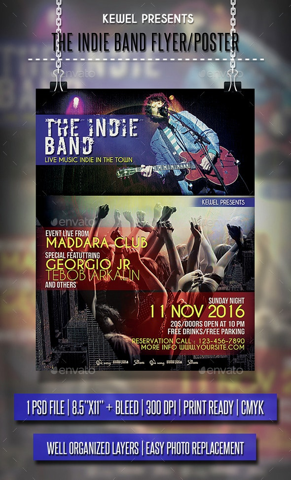 The Indie Band Flyer / Poster - Events Flyers