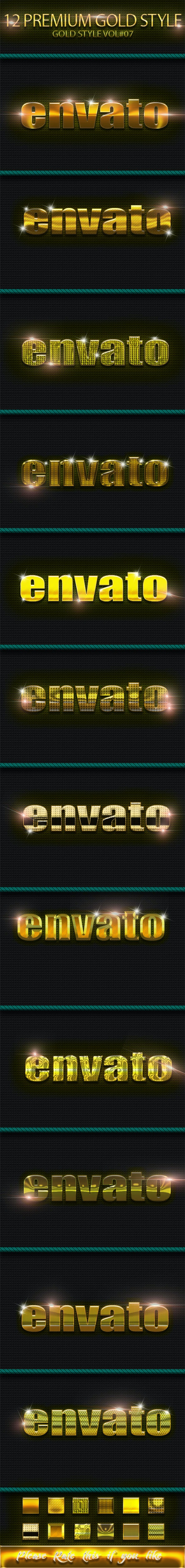 12 Photoshop Text Effect Styles Vol 7  - Text Effects Styles