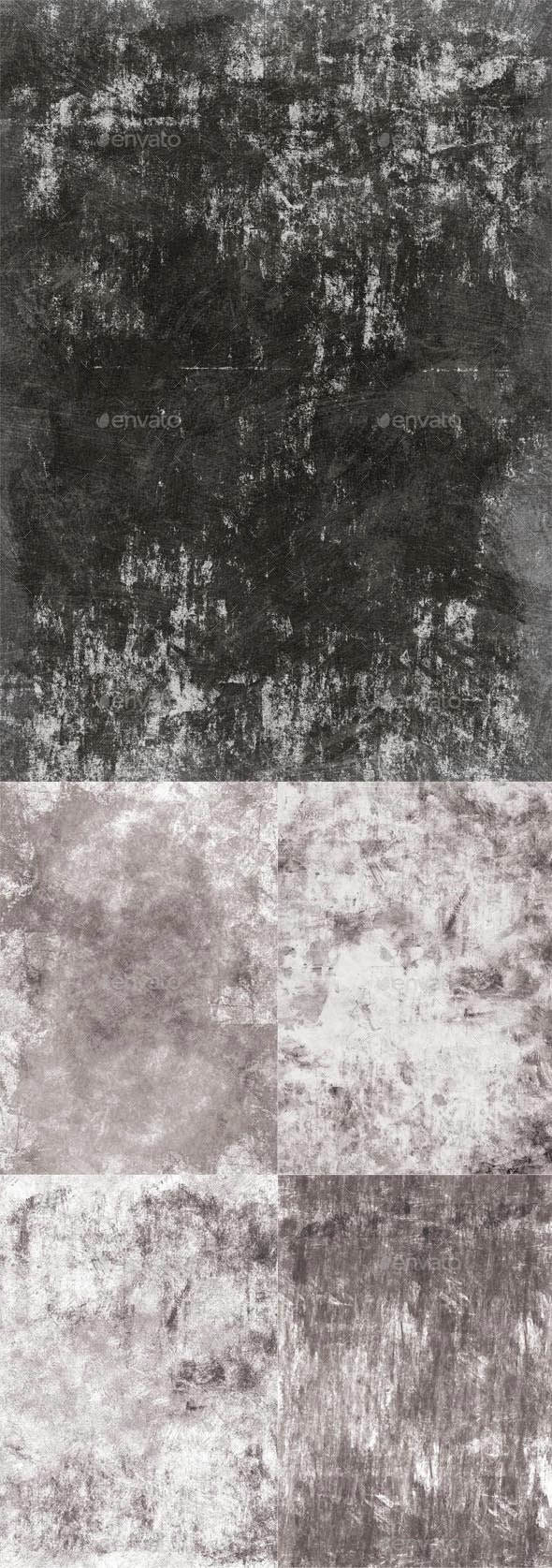 5 grungy textures - Industrial / Grunge Textures