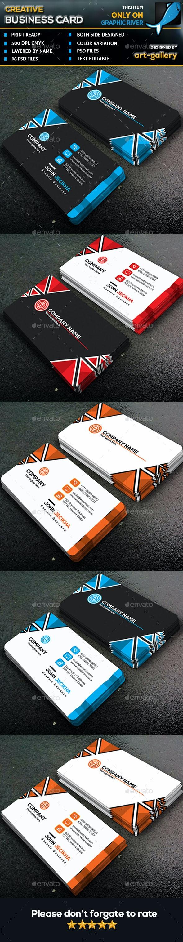 Creative  Business Card - 91B - Business Cards Print Templates