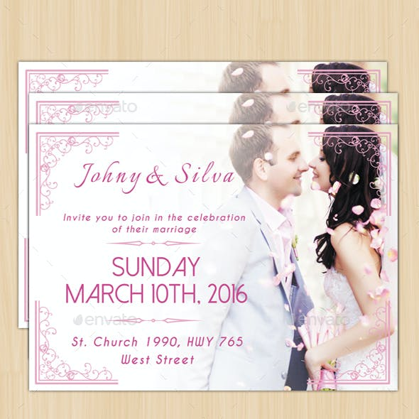 Modern Wedding Card II