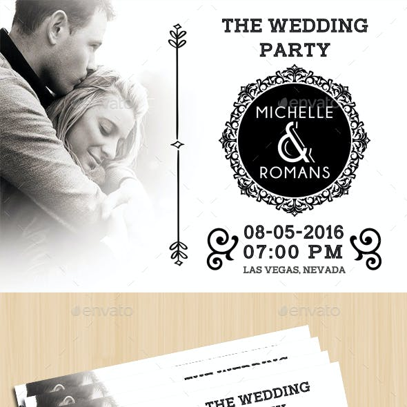 Modern Wedding Card IV