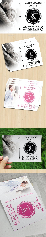Modern Wedding Card IV - Cards & Invites Print Templates