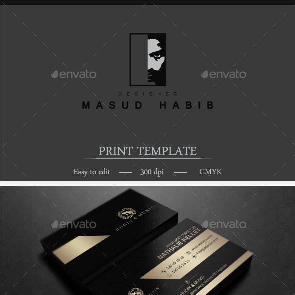 Gold And Black Business Card 2