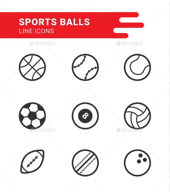 Sports Balls icon set - Miscellaneous Icons