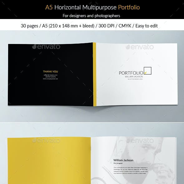 A5 Horizontal Multipurpose Portfolio