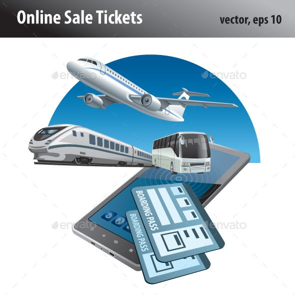 Online Sale Tickets - Vectors