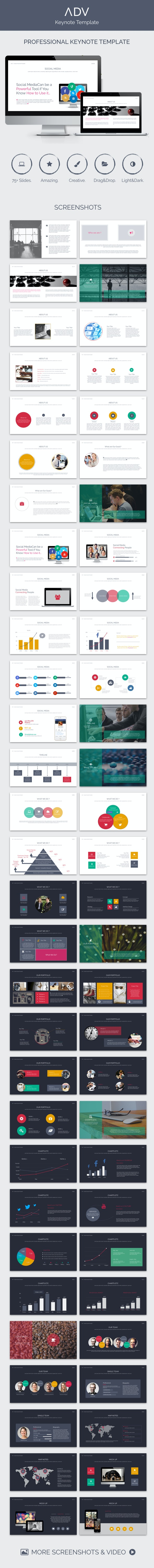ADV Keynote Template - Creative Keynote Templates