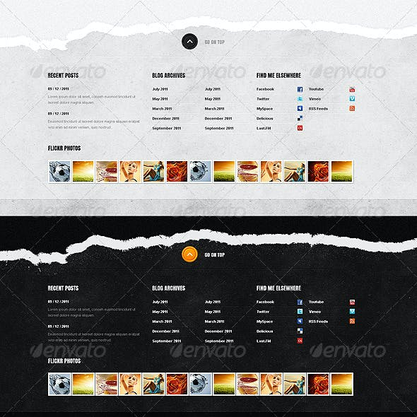 Footer designs.Volume 2