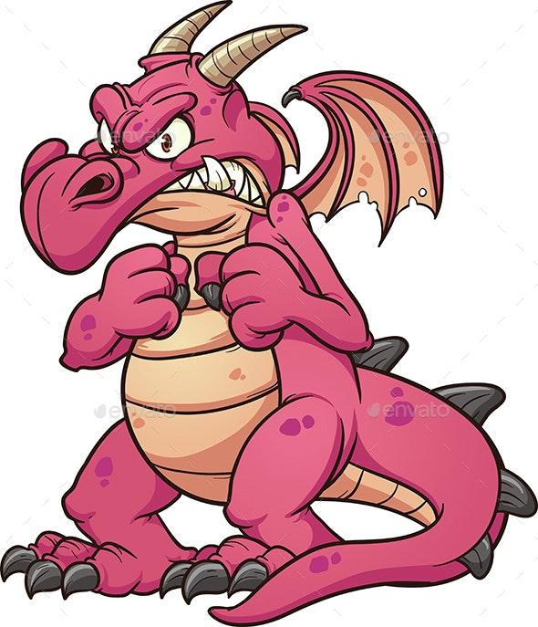 Angry Dragon - Monsters Characters