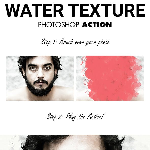Water Texture - Watercolor Sketch Effect photoshop Actions