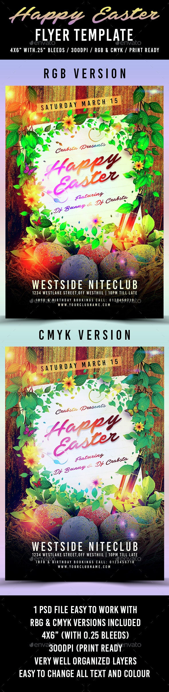 Happy Easter Flyer Template 2 - Holidays Events