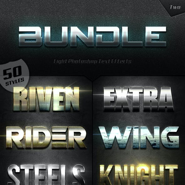 Extra Light Text Effects Bundle Two
