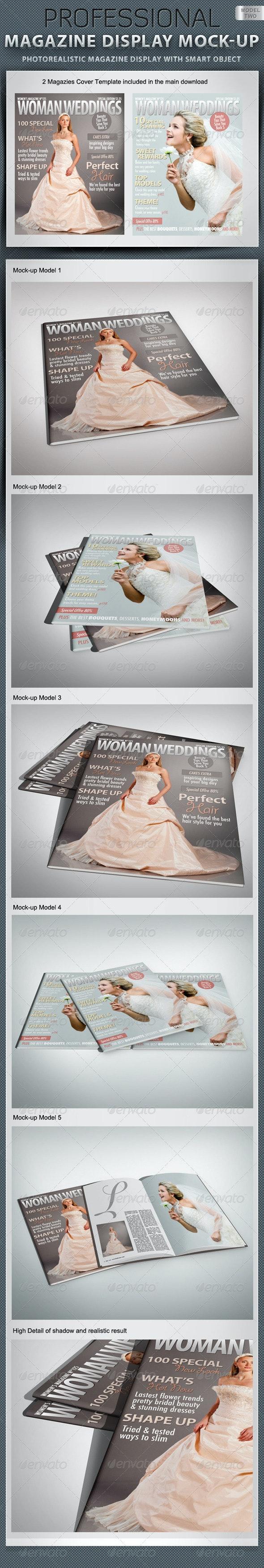 Professional Magazine Display Mock-up V2 - Magazines Print