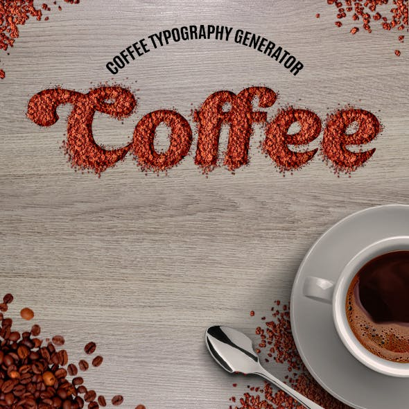 Coffee Typography Action
