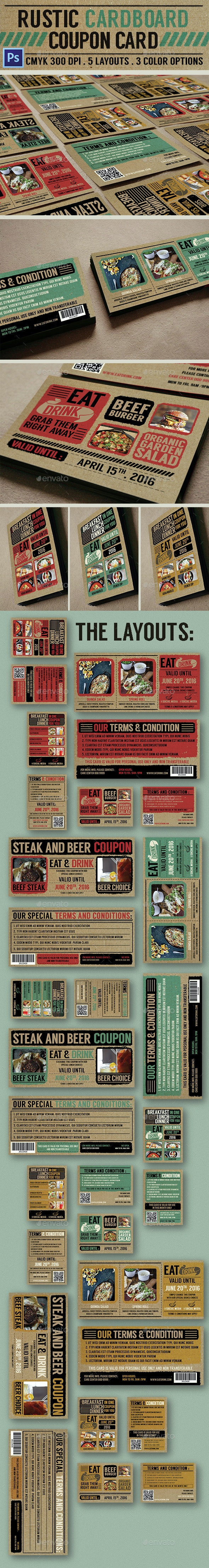 Rustic Cardboard Coupon Card - Loyalty Cards Cards & Invites