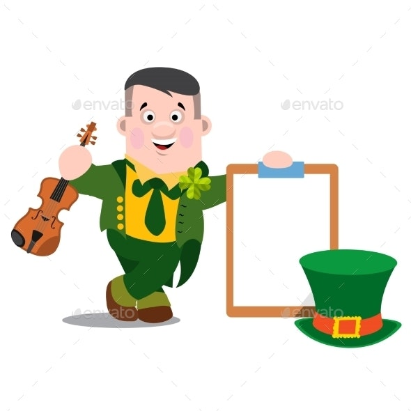 Man With a Violin Patrick s Day - People Characters
