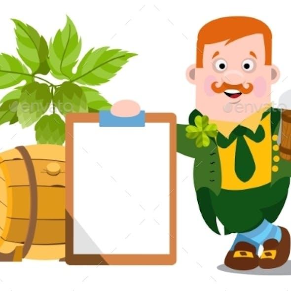 Man in The Irish Pub. St. Patrick s Day