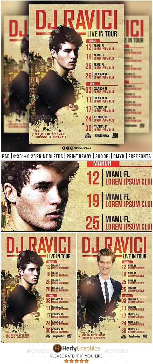 Dj & Artist Tour - Flyer Template - Events Flyers