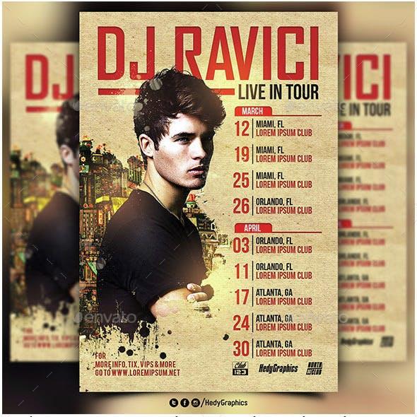 Dj & Artist Tour - Flyer Template