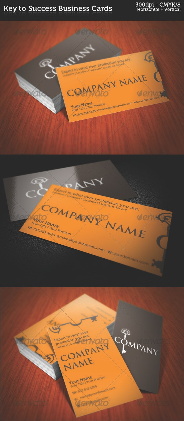 Key to Success Business Cards - Creative Business Cards