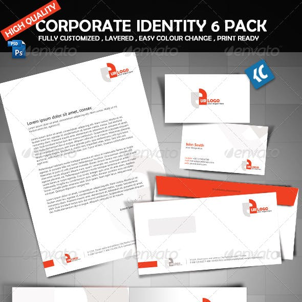 High quality corporate identity 6 pack