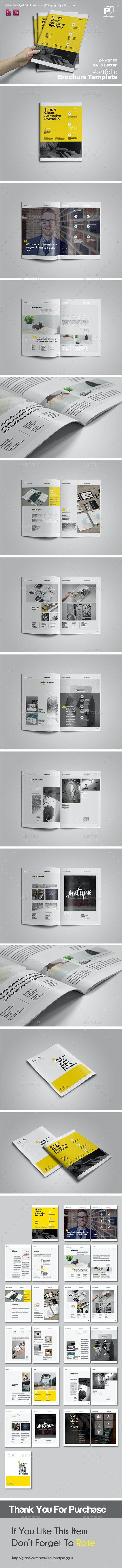 Clean Potrait Multipurpose Brochure Vol.2 - Portfolio Brochures