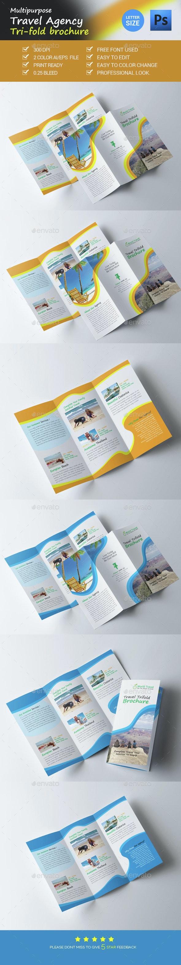 Travel Agency Trifold Brochure - Brochures Print Templates