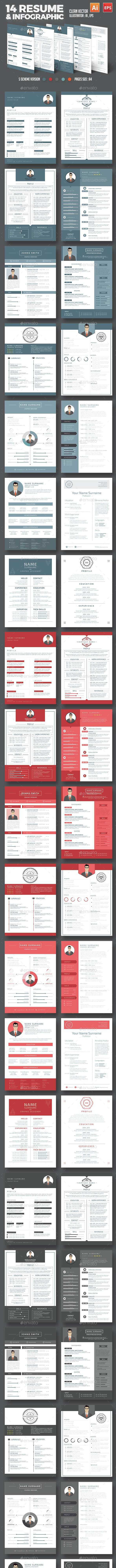 14 Resume Template Design - Resumes Stationery