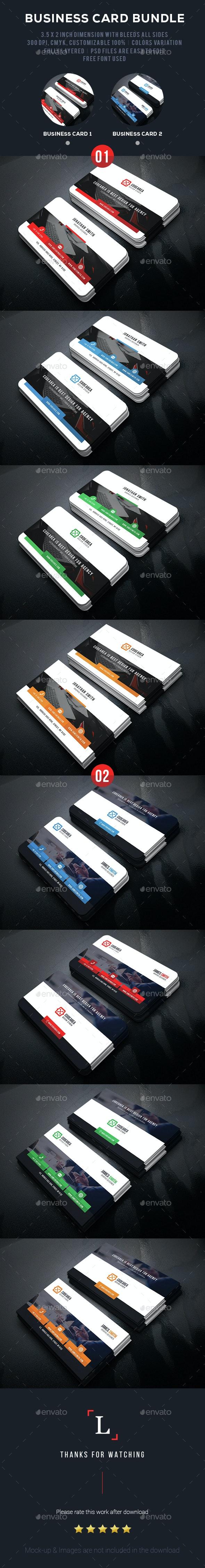 Corporate Business Card Bundle - Business Cards Print Templates