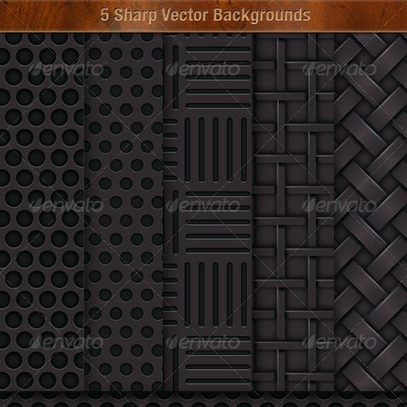 5 Sharp Vector Background Textures