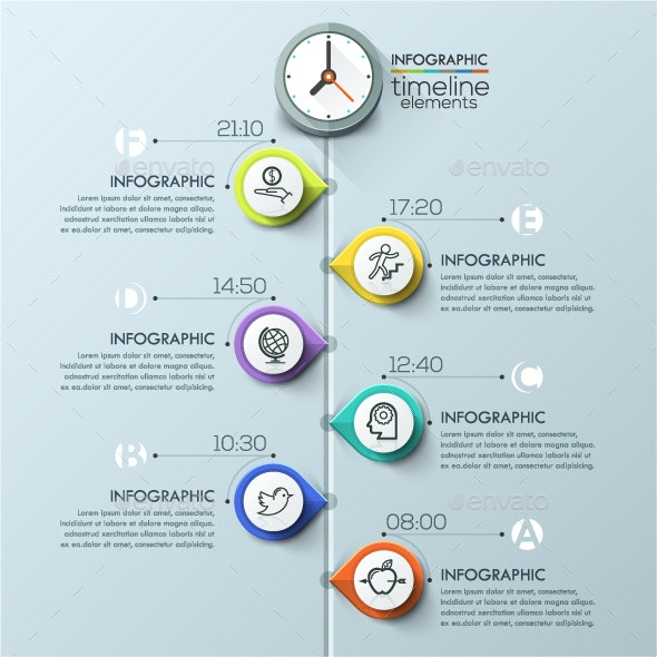 Modern Infographics Timeline Template - Infographics
