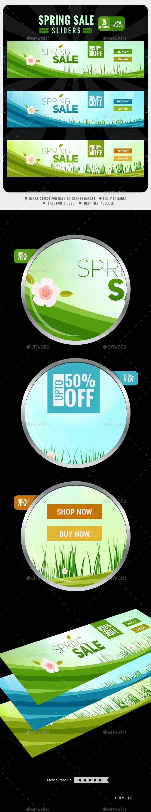 Spring Sale Slider - Sliders & Features Web Elements