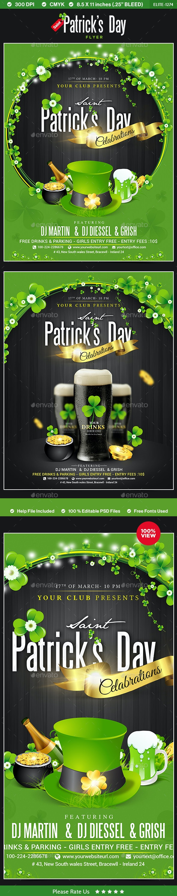 St.Patrick's Day Flyers - 2 Designs - Events Flyers