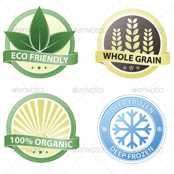 Package Badges vector set