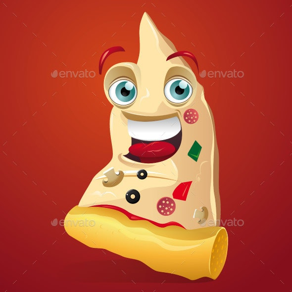 Pizza Slice Cartoon Mascot - Miscellaneous Characters