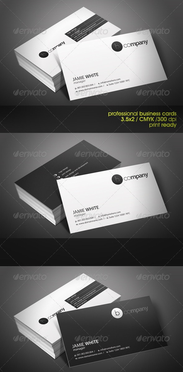 Black&White Business Cards - Corporate Business Cards