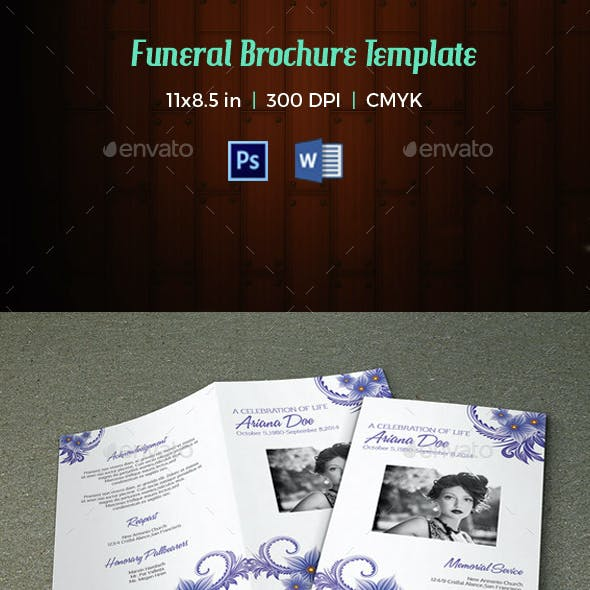 Funeral Program Template-V32